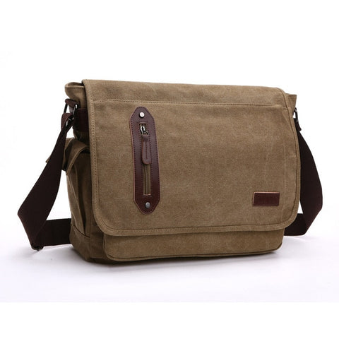 Pippin Canvas Messenger Bag