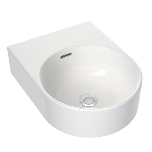 Clark Round Wall Basin 350mm No Tapholes with overflow - Bathroom Warehouse