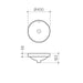 Clark Round Inset Basin 400mm - dimensions - Bathroom Warehouse