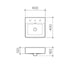 Clark Square Wall Basin 400mm Three Tapholes - dimensions - Bathroom Warehouse