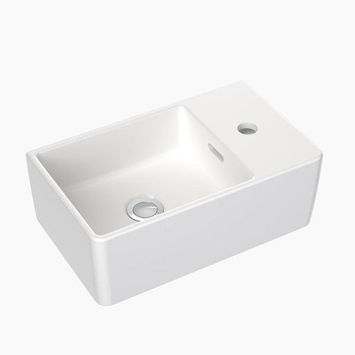 Clark Square Hand Wall Basin One Taphole - Bathroom Warehouse
