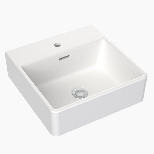 Clark Square Wall Basin 400mm One Taphole with overflow- Bathroom Warehouse
