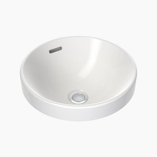 Clark Round Inset Basin 350mm with overflow - Bathroom Warehouse