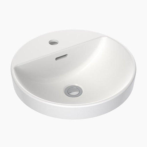 Clark Round Inset Basin with Tap Landing 400mm with overflow - Bathroom Warehouse
