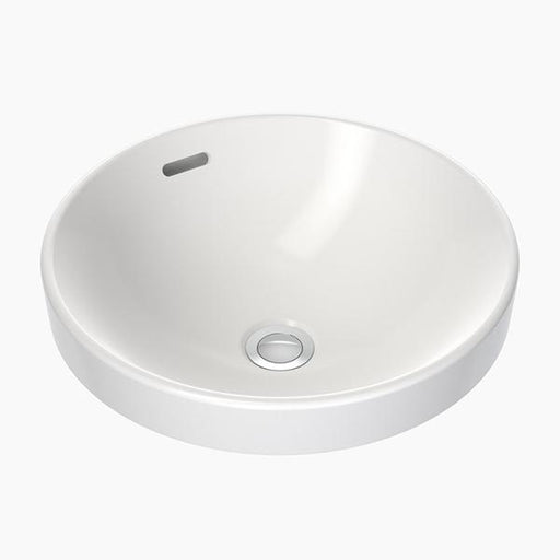 Clark Round Inset Basin 400mm with overflow - Bathroom Warehouse