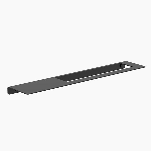 Clark Square Hand Towel Rail with shelf - Matte Black - Bathroom Warehouse