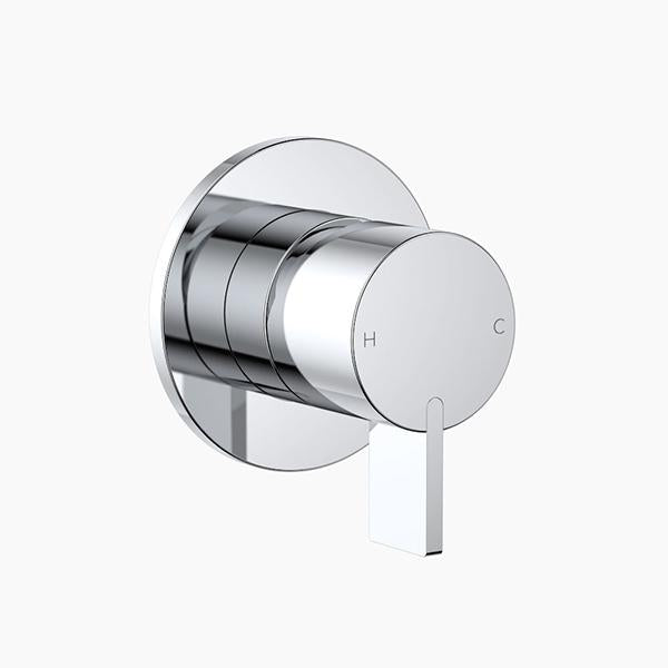 Clark Round Blade Wall Mixer - Chrome - Bathroom Warehouse