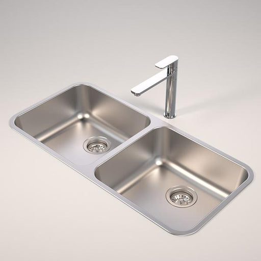 Caroma Contemporary Double Bowl Sink by Caroma | Bathroom Warehouse