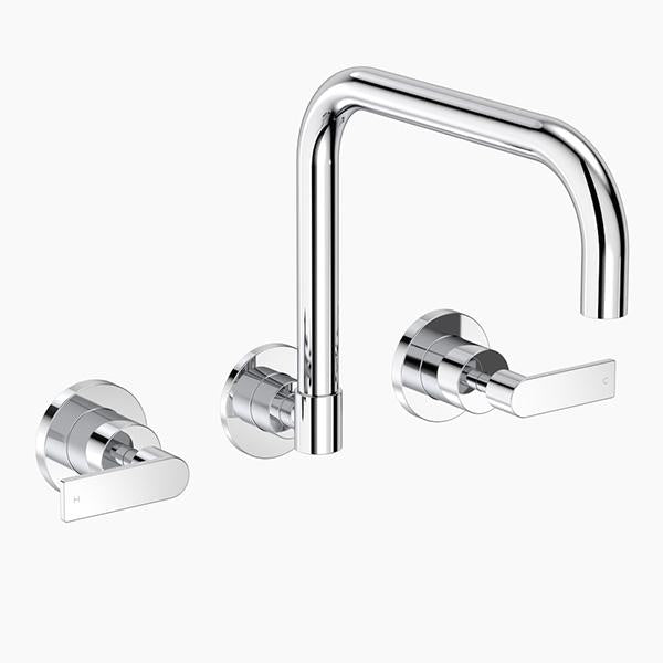 Clark Lever Wall Sink Set Chrome Online at Bathroom Warehouse