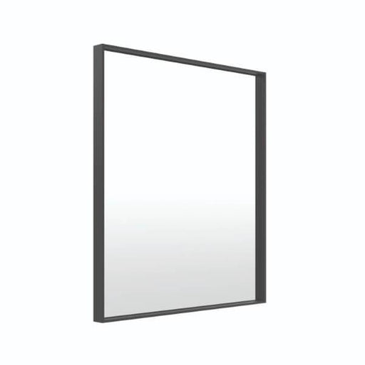 Thermogroup Ablaze Square Black Frame Mirror 750 x 900mm - Bathroom Warehouse
