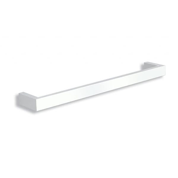 Thermogroup 12V Square Single Bar Heated Towel Rail 632mm - Satin White Online at Bathroom Warehouse