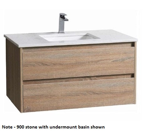 Aria Wall Hung 750mm Vanity Wood Grain - Bathroom Warehouse