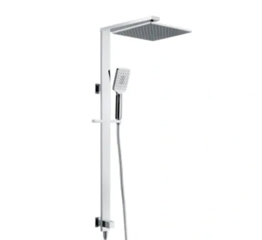 Luxury Grand 2 in 1 Twin Shower Bottom Inlet - Chrome - Bathroom Warehouse
