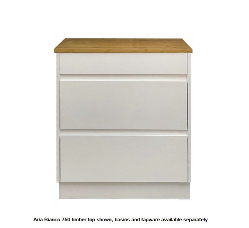 Aria Bianco 750mm Vanity FS White - Bathroom Warehouse