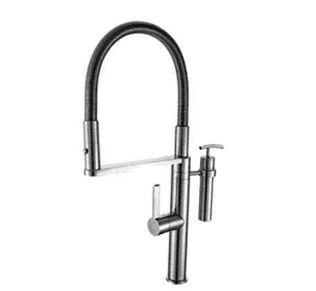 Eneo Sink Mixer with 2 Jet nozzle metal spring w soap Chrome - Bathroom Warehouse