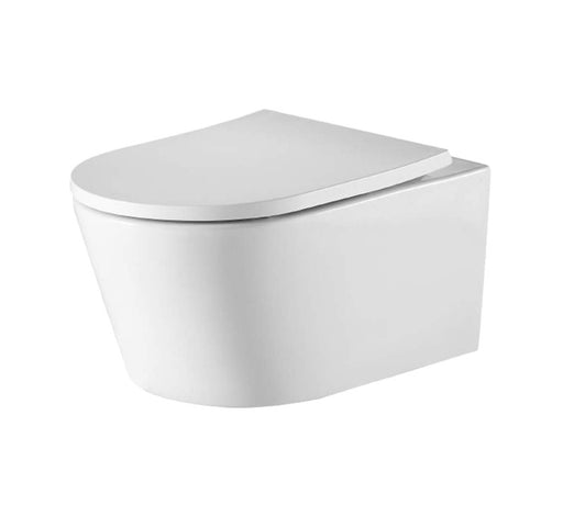 Oslo Rimless Wall Hung Pan with Vienna Seat - Bathroom Warehouse