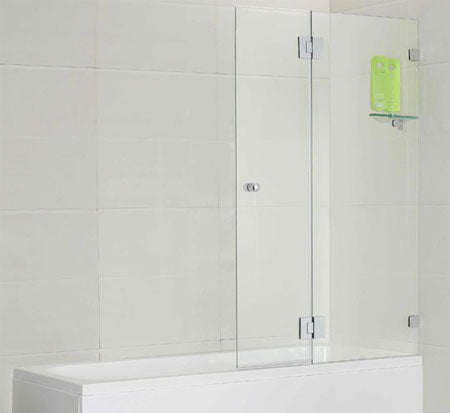 Over Bath ΓÇÉ Fixed and Swing Shower Screen - Bathroom Warehouse