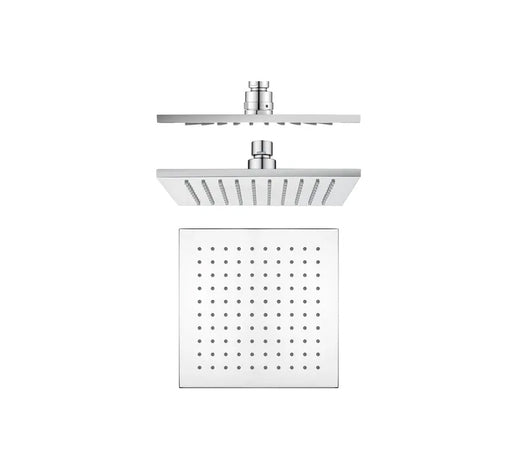 Shower Head Brass 200mm - Chrome - Bathroom Warehouse