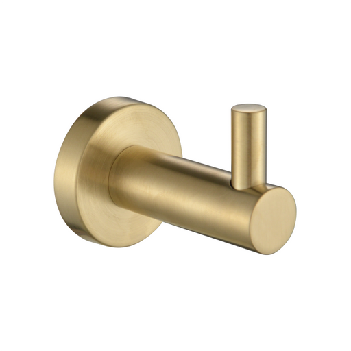 Mirage Robe Hook Single Brushed Bronze - Bathroom Warehouse