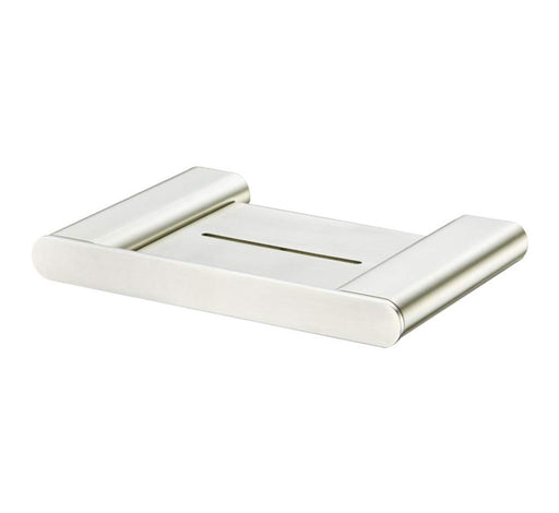 Madrid Soap Holder With Shelf - Brushed Nickel - Bathroom Warehouse