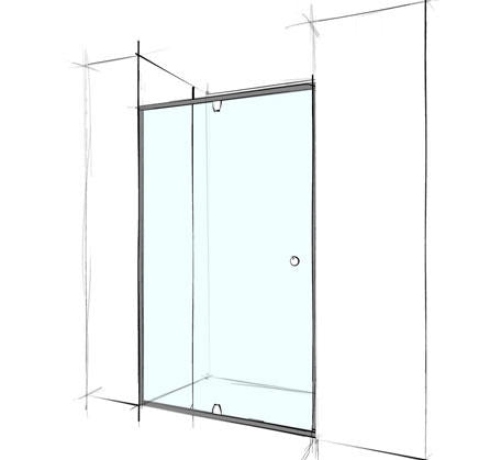 Custom Wall to Wall Shower Screen Semi-Frameless - Bathroom Warehouse