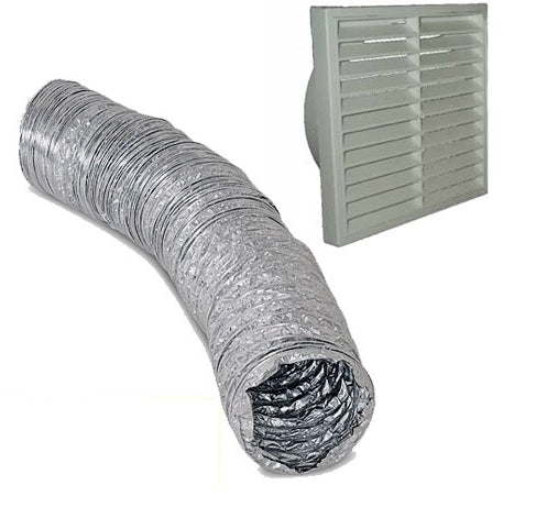 100mm vent + 2 metre duct - Bathroom Warehouse