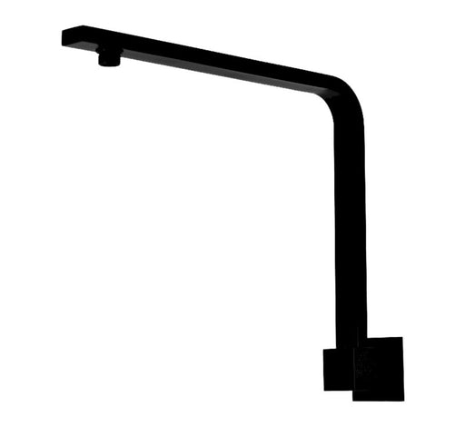 Chao High Rise Shower Arm Square 350mm Black - Bathroom Warehouse