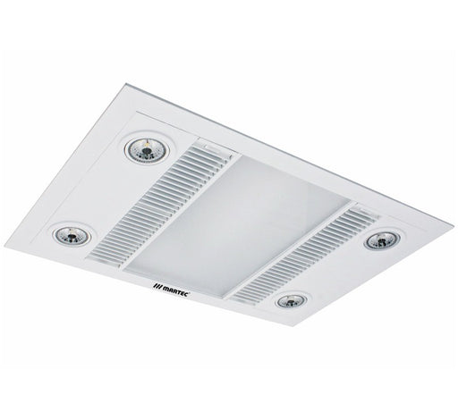 Linear LED 3 in 1 Light Heater Exhaust Fan - White - Bathroom Warehouse