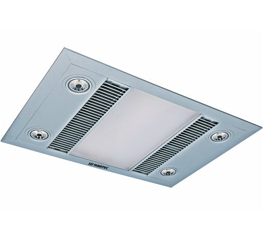 Linear LED 3 in 1 Light Heater Exhaust Fan - Silver - Bathroom Warehouse