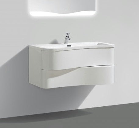 Formica 900mm Wall Hung Vanity White - Bathroom Warehouse