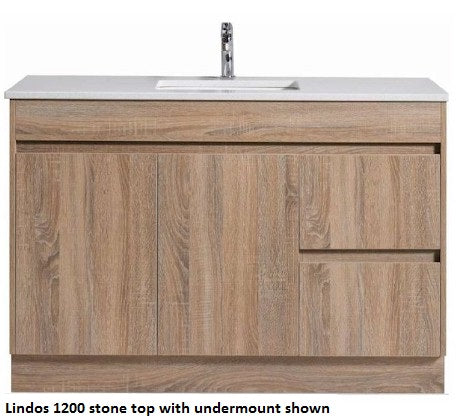 Lindos 750mm Vanity FS Wood Grain - Bathroom Warehouse