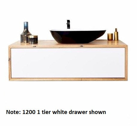 Momento Eureka 750mm Vanity 1 Tier WH Solid Timber  - Bathroom Warehouse