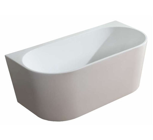 M-BT214 Round Back to Wall Free Standing Bath 1500 White - Bathroom Warehouse