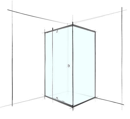 Custom Square Corner Shower Screen Semi-Frameless - Bathroom Warehouse