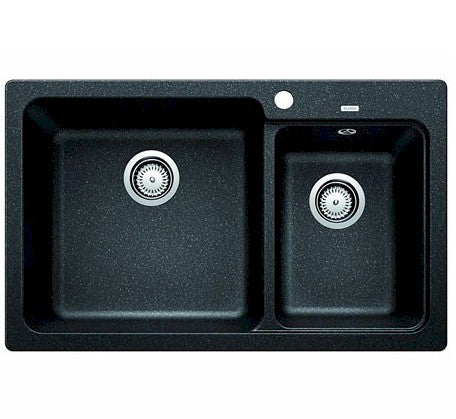 Blanco Naya Double Bowl Drop-In Sink - Anthracite - Bathroom Warehouse