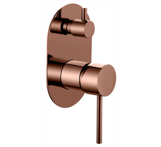 Ideal Wall Mixer With Diverter Rose Gold - Bathroom Warehouse