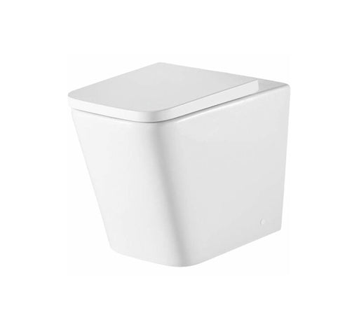 Munich Back to Wall Rimless Toilet Pan with Seat - Bathroom Warehouse