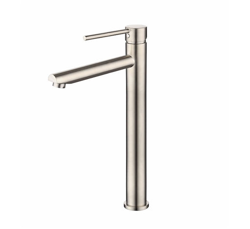 Star High Rise Vessel Mixer 15 Year Wrnty PVD Brushed Nickel - Bathroom Warehouse