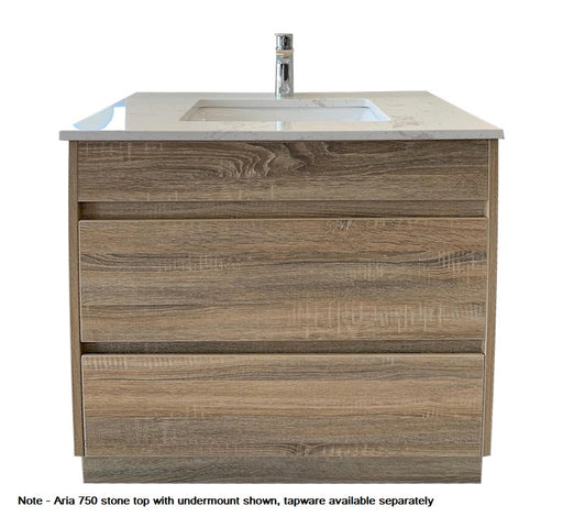 Aria 750mm Vanity FS Wood Grain - Bathroom Warehouse
