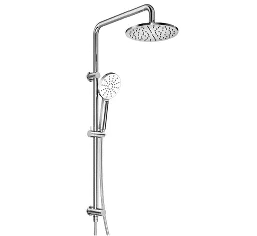 Classic 2 in 1 Twin Shower Bottom Inlet - Chrome - Bathroom Warehouse