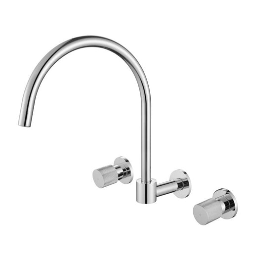Cadence 1/4 Turn Wall Sink Set Chrome - Bathroom Warehouse
