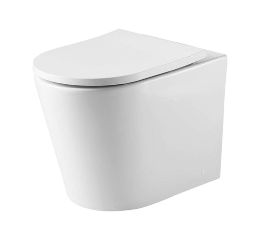 Oslo Back to Wall Rimless Toilet Pan with Vienna Seat - Bathroom Warehouse