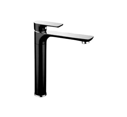 Sleek Sink Mixer Black/Chrome - Bathroom Warehouse