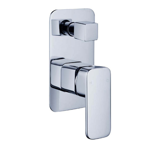 Elegant Wall Mixer With Diverter Chrome - Bathroom Warehouse