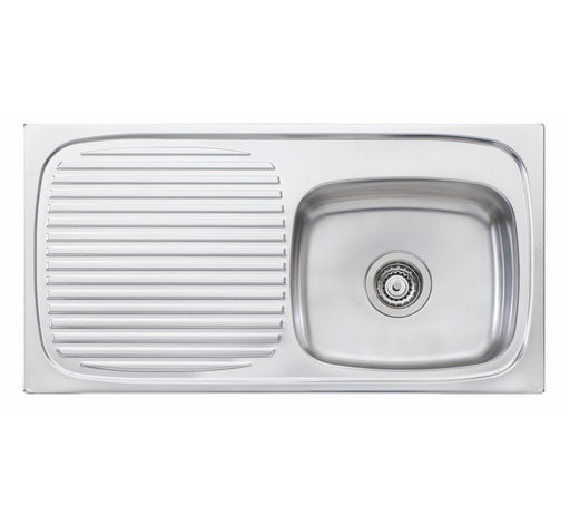 Oliveri Ultraform single bowl topmount sink L/H drainer NTH - Bathroom Warehouse