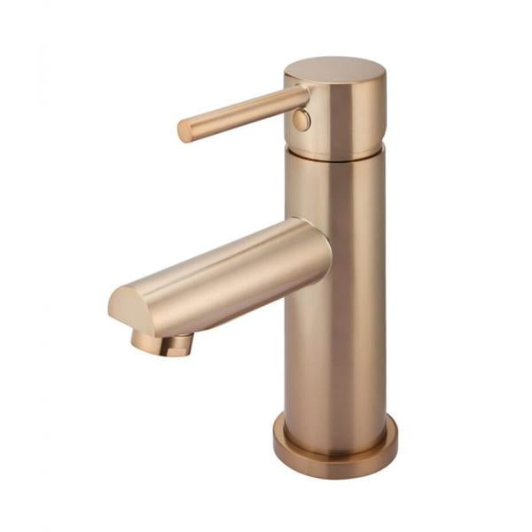 Meir Round Champagne Basin Mixer | Bathroom Warehouse