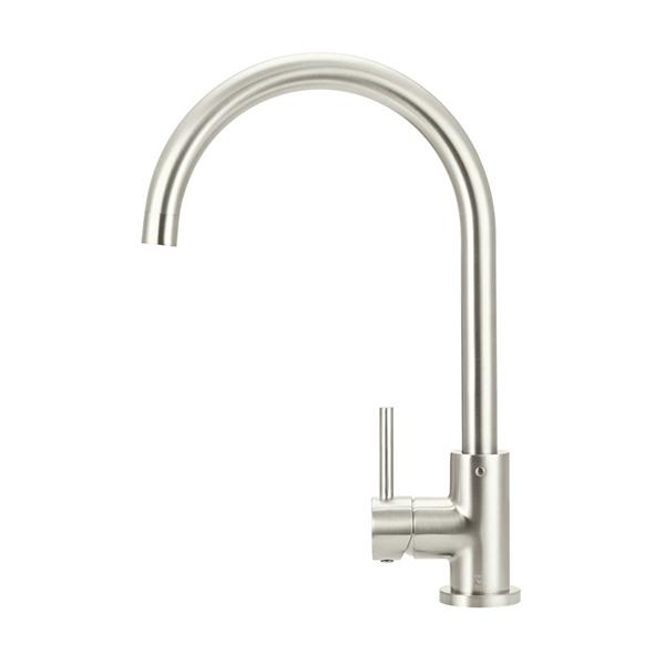 Meir Round Kitchen Mixer - Brushed Nickel Online | Bathroom Warehouse