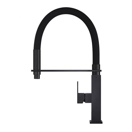 Meir Flexible Matte Black Kitchen Mixer | Bathroom Warehouse