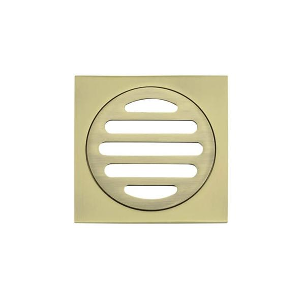 Meir Square Floor Grate Shower Drain 80mm Outlet - Gold online | Bathroom Warehouse