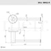 Meir Round Champagne Toilet Roll Holder Technical Drawing | Bathroom Warehouse